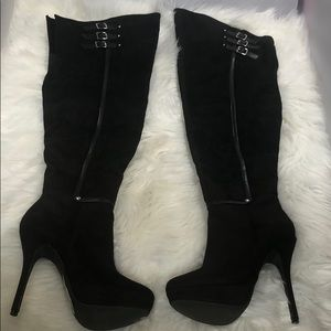 Over the Knee Black Boots NWOT